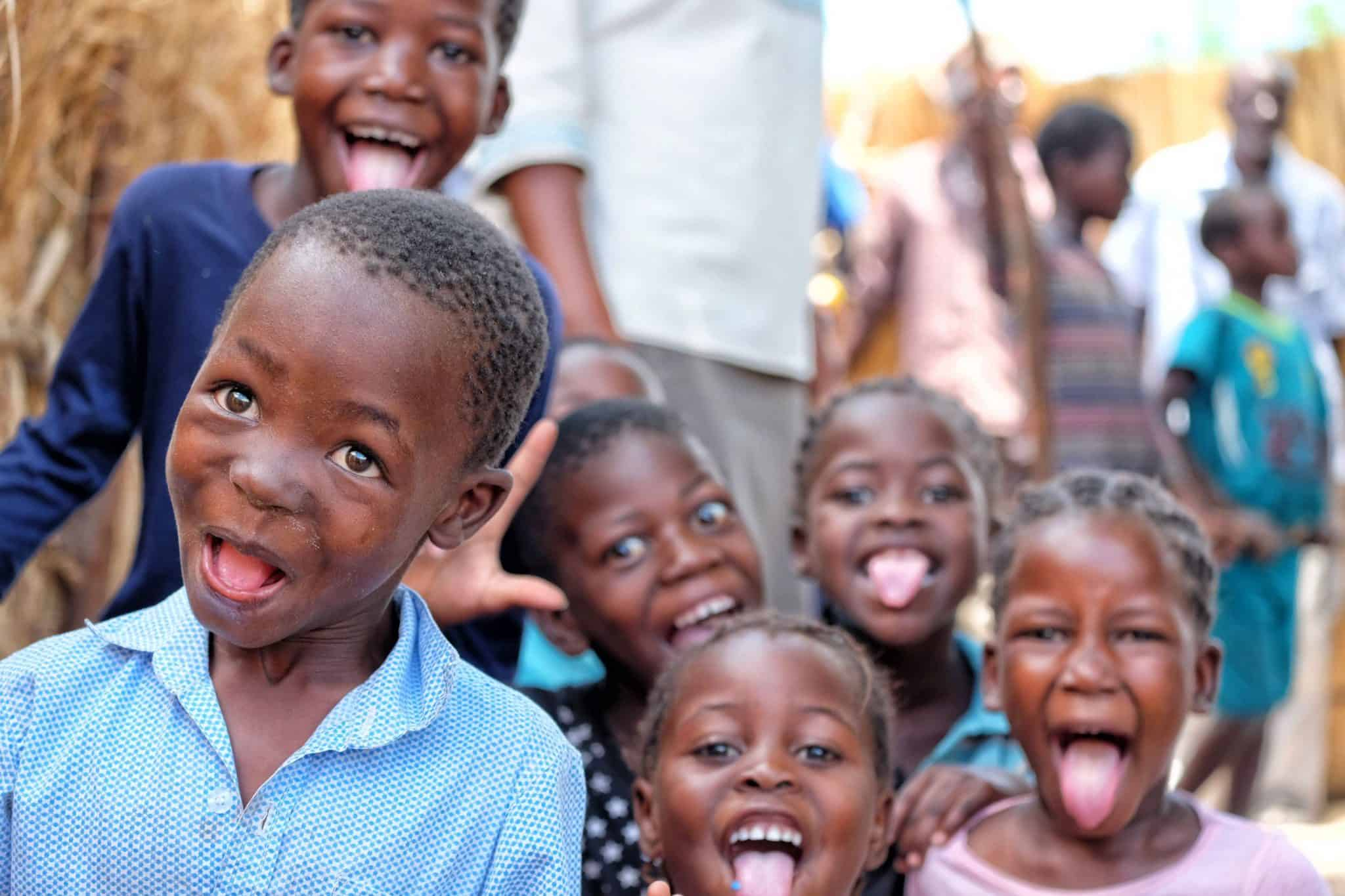 Funny Faces in Namibian Village
