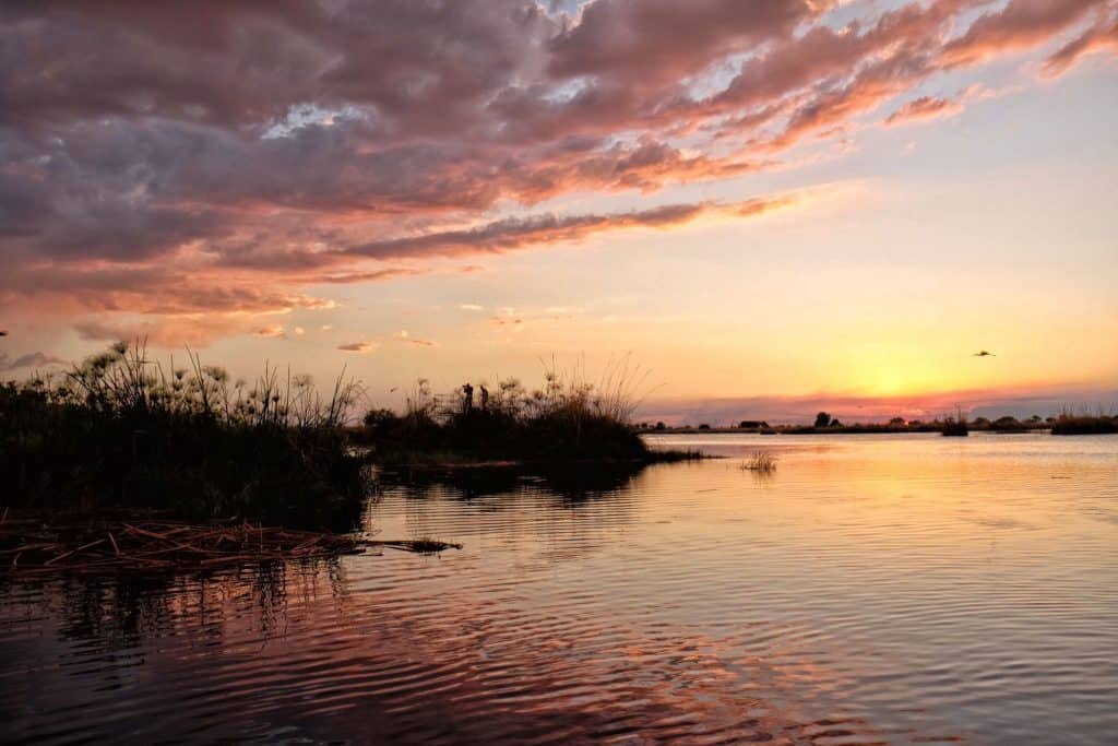 The Okavango Delta at Sunrise