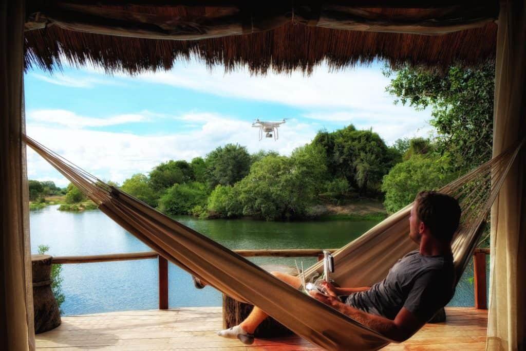 Drone Flight at Tongabezi