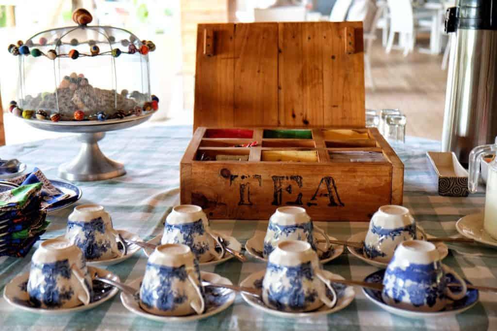 Tea at the Victoira Falls River Lodge