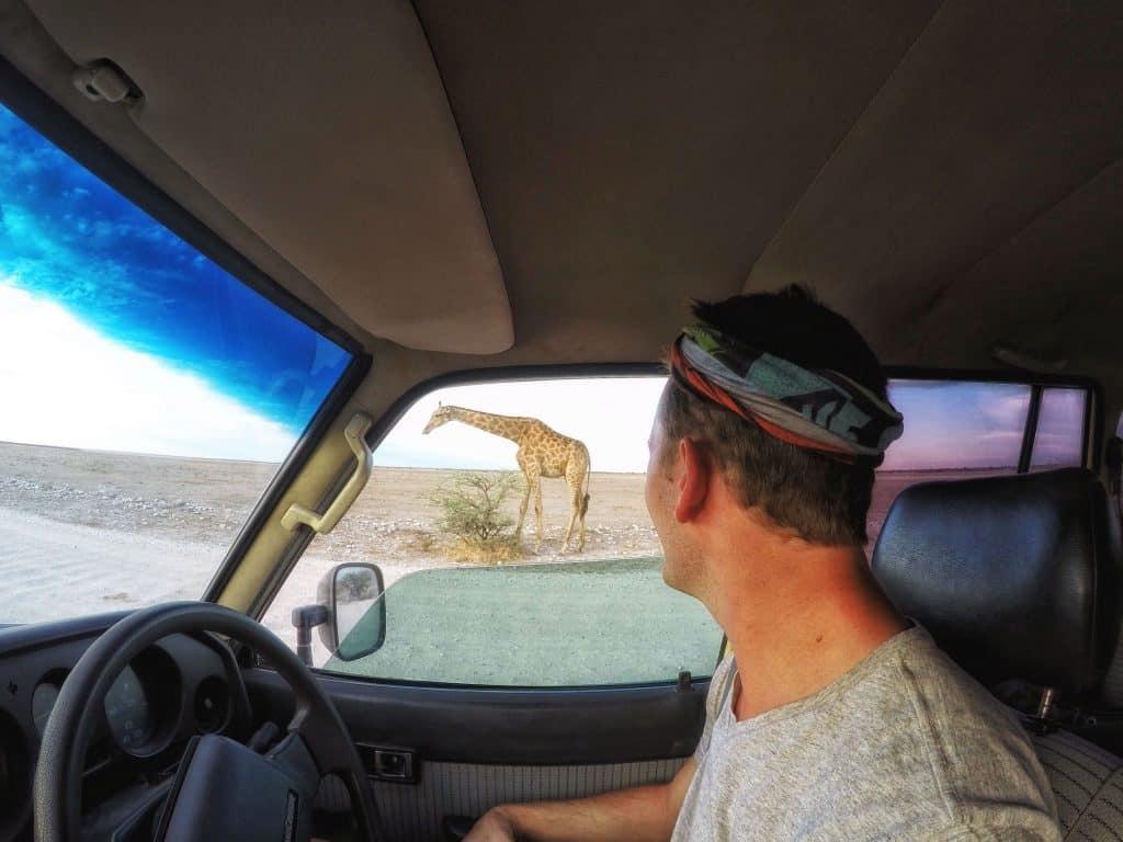 Cameron in Etosha