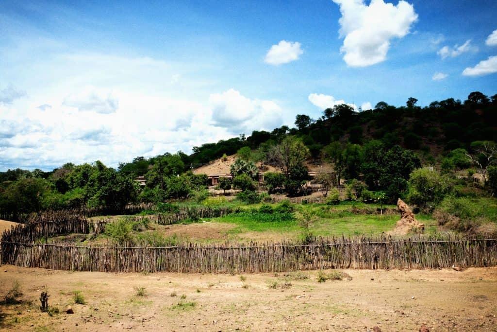 Village In Zimbabwe Below Lake Kariba