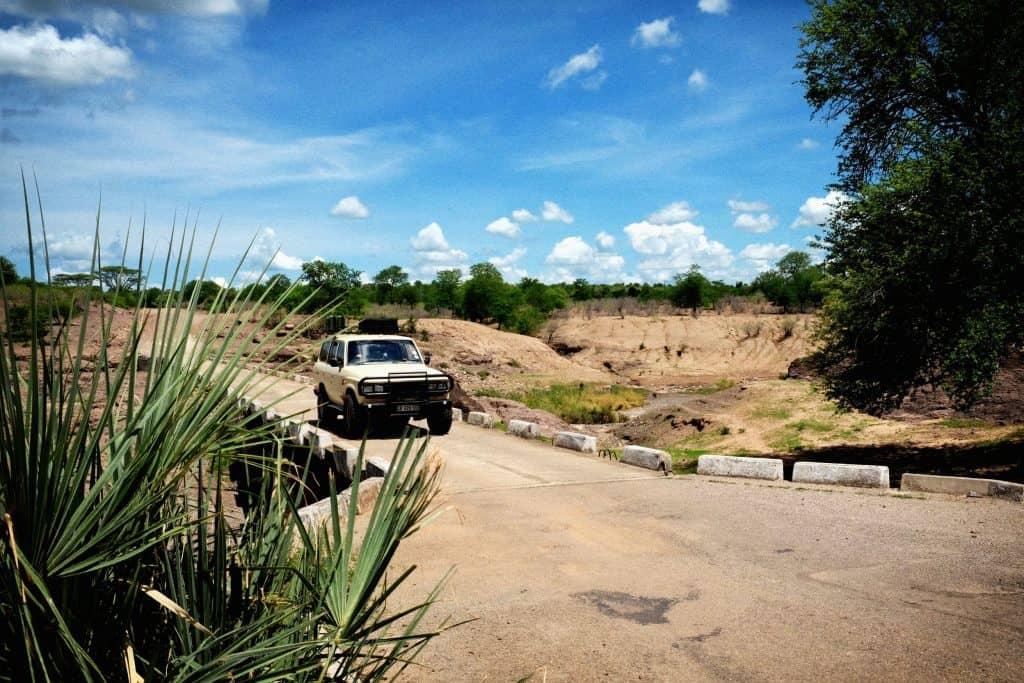 Crossing River Near Lake Kariba