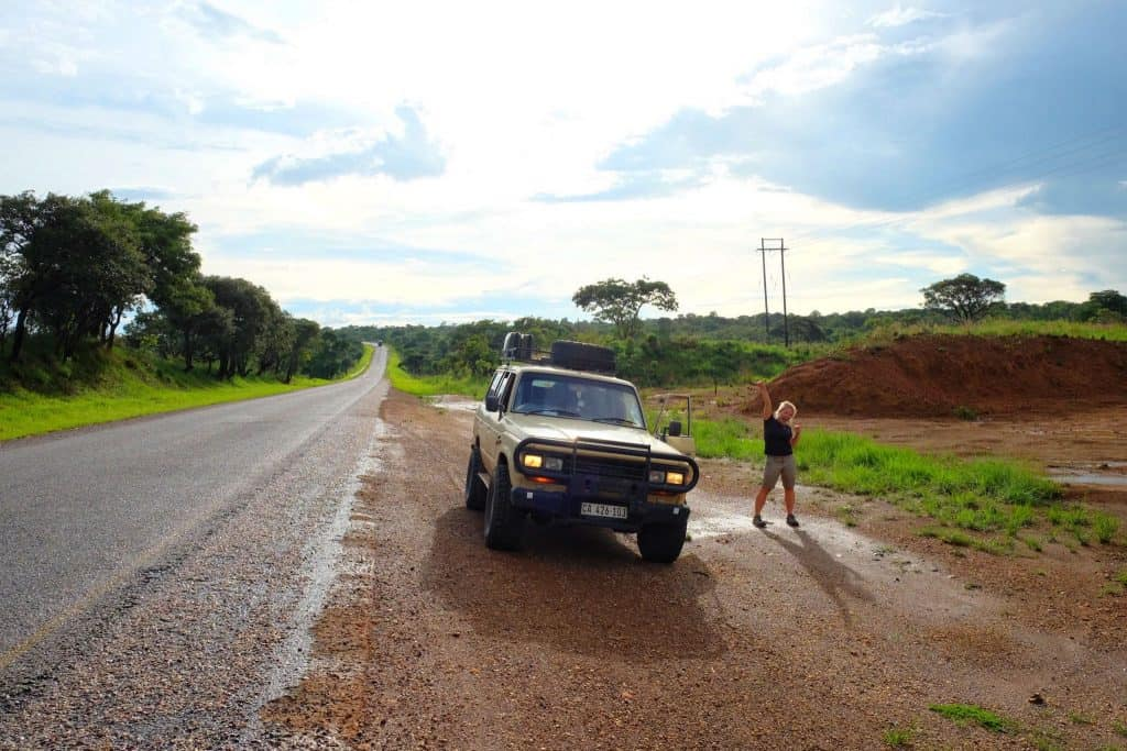Tarred roads in Zambia