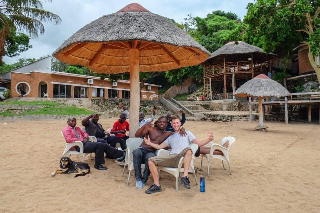making friends in Malawi