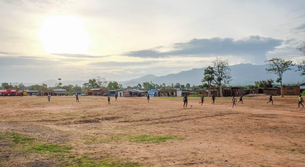 Soccer Game in Malawi