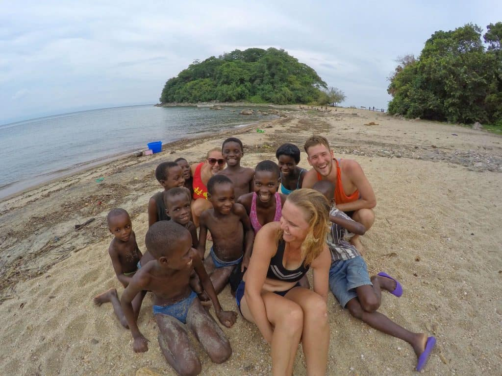 On the shores of Lake Malawi