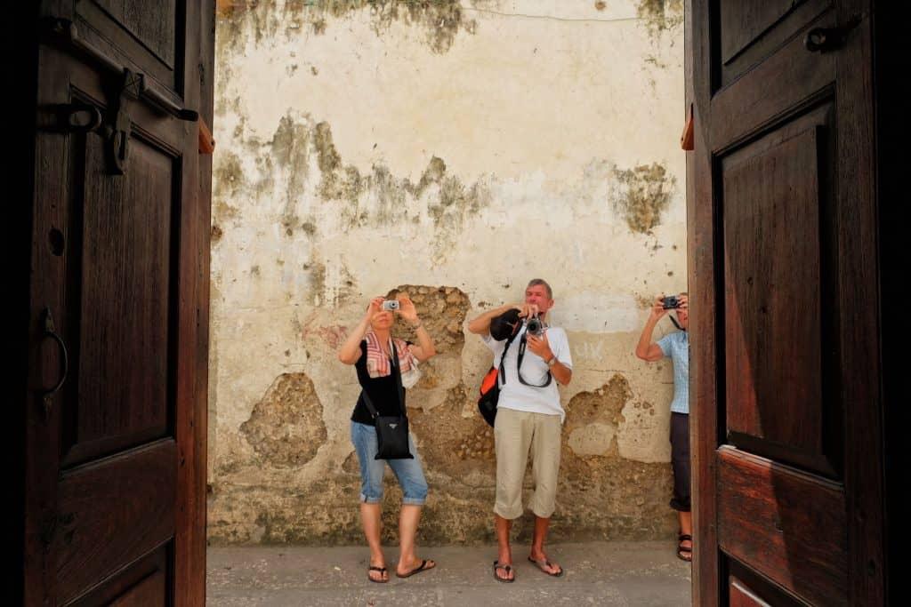 Tourist in Zanzibar