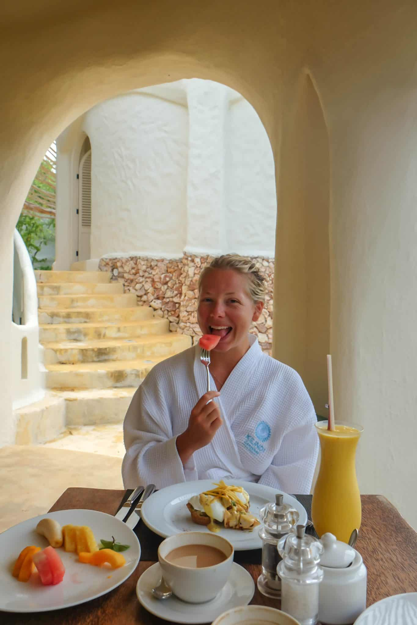 Breakfast at Kilindi The Best Hotels In Zanzibar