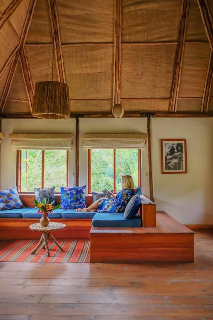 Chilling at Bwindi Lodge