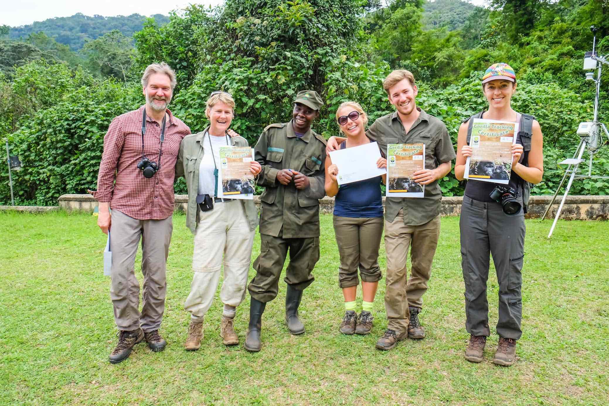 Completion of our Ugandan gorilla trek