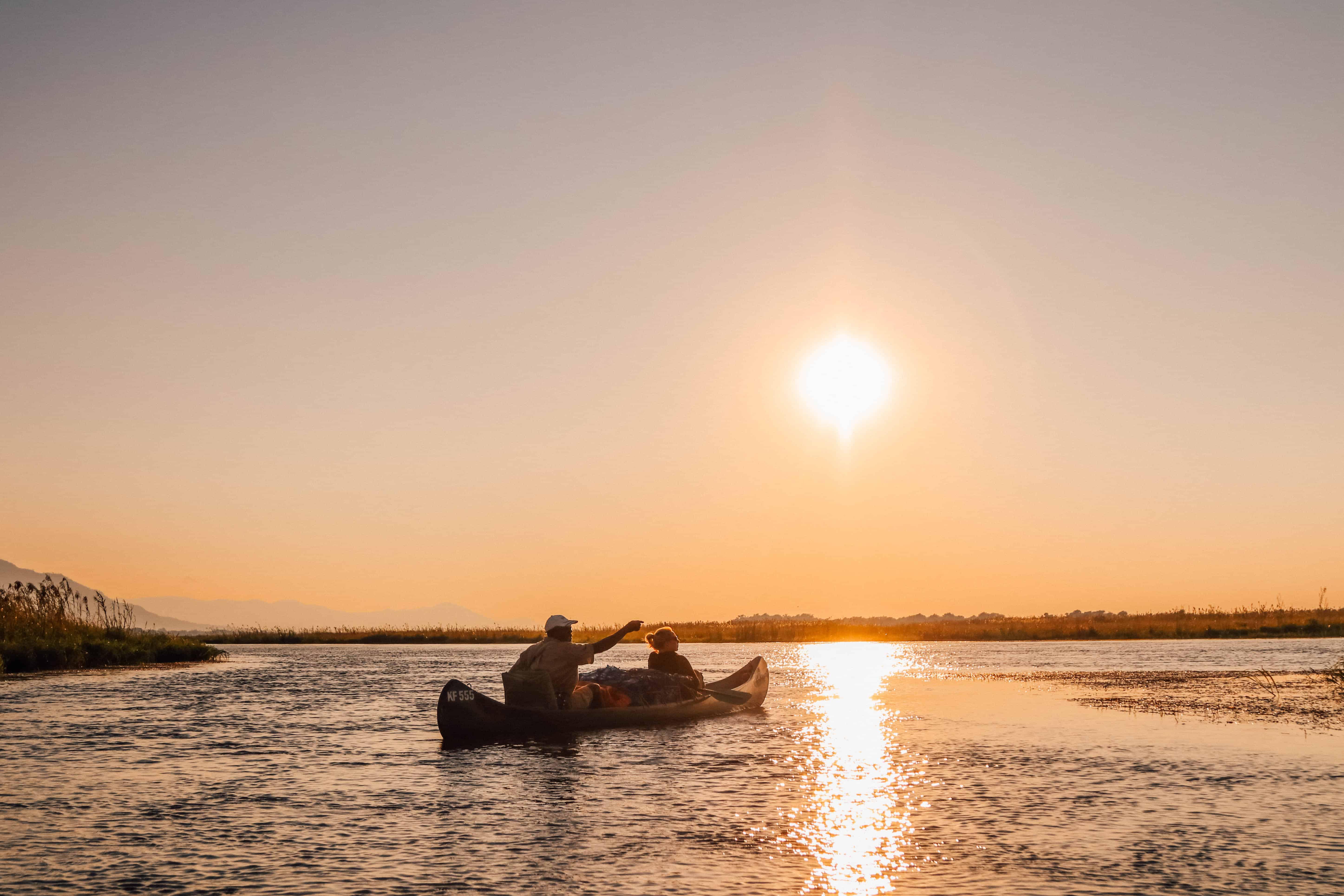 Canoe in safari