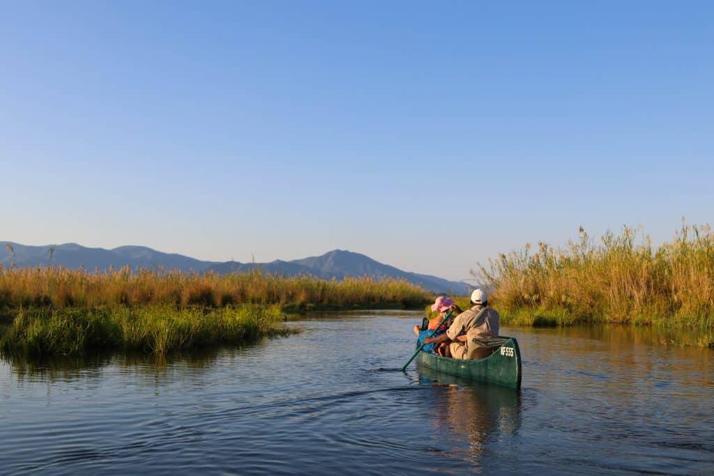 Mana Pools Canoe Safari Zambezi River