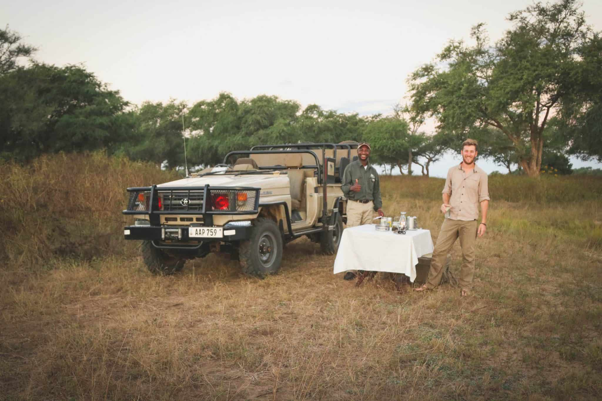 Sundowners in the Lower Zambezi National Park