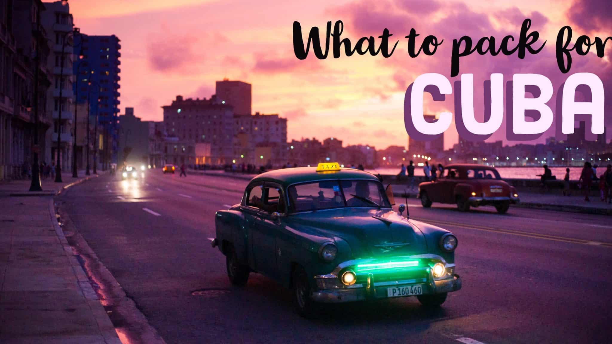 what to bring to cuba