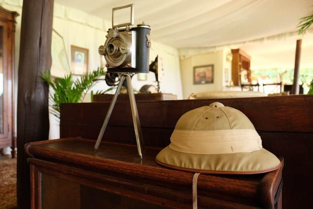 safari hat at Cottars 1920