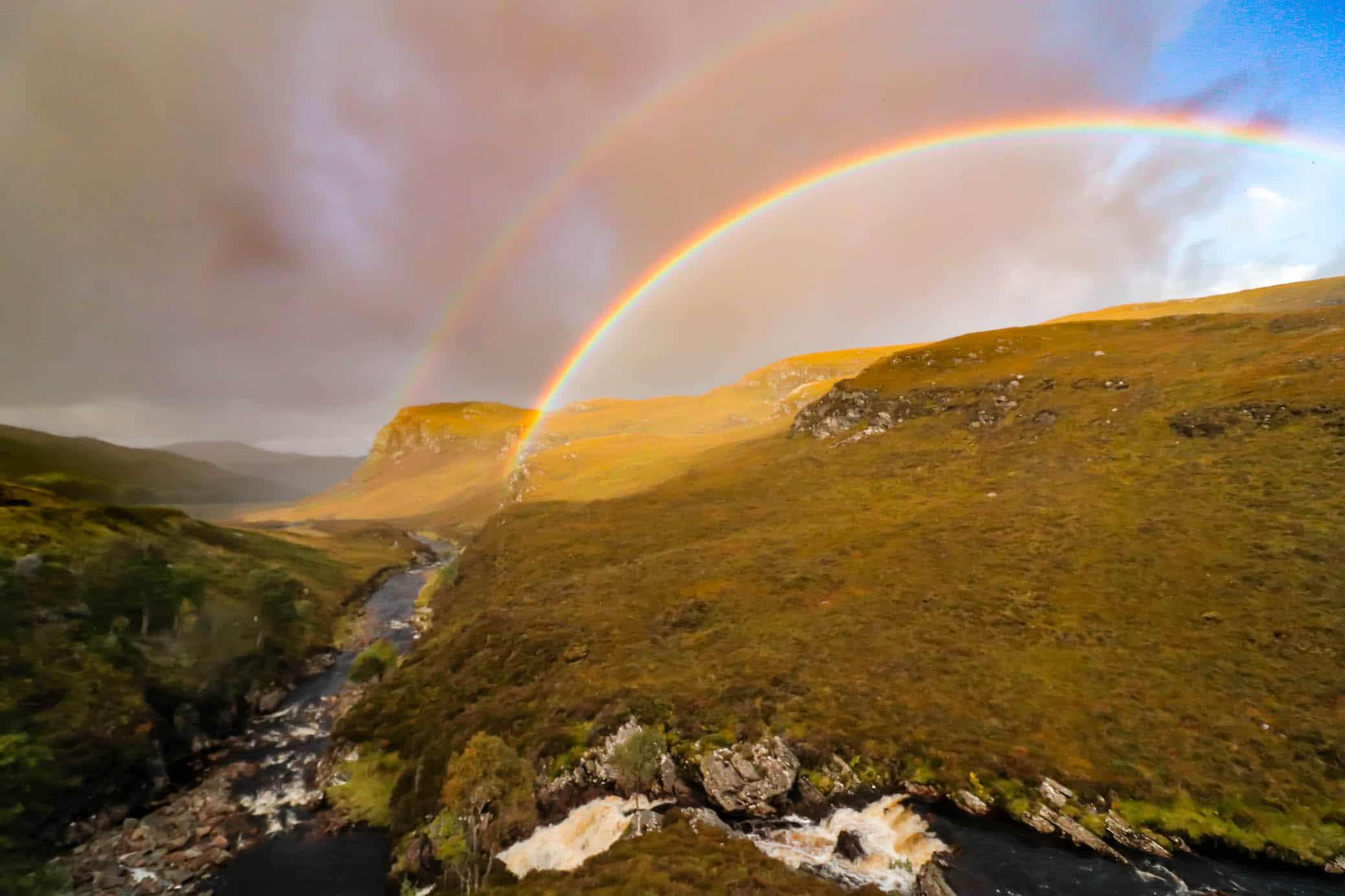 Rainbows in the Scottish Highlands