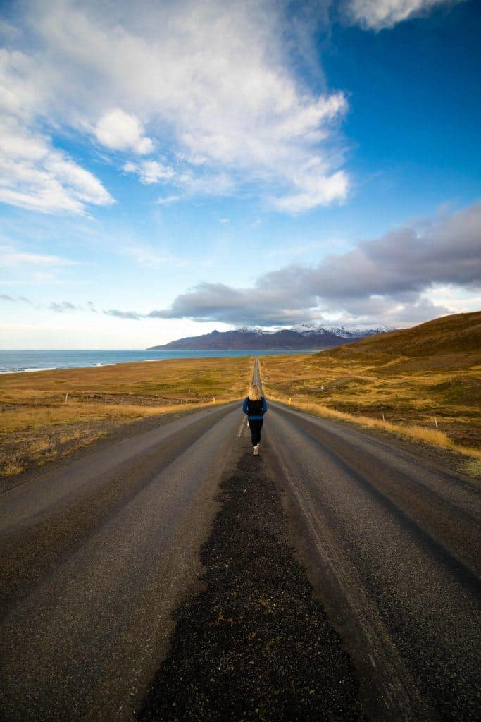 lonely roads in Iceland