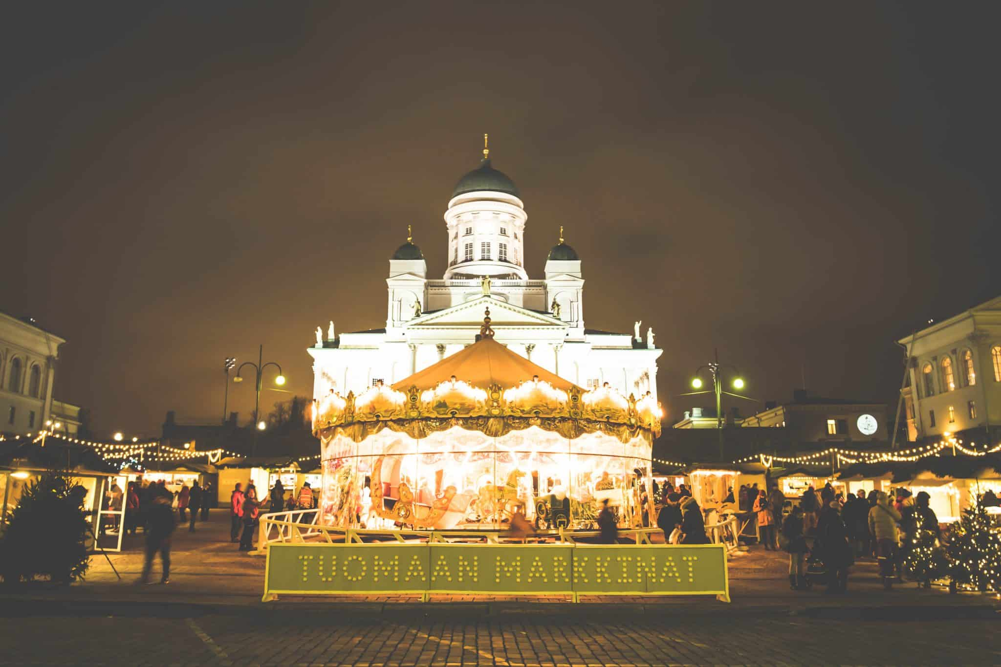 Christmas market in Helsinki