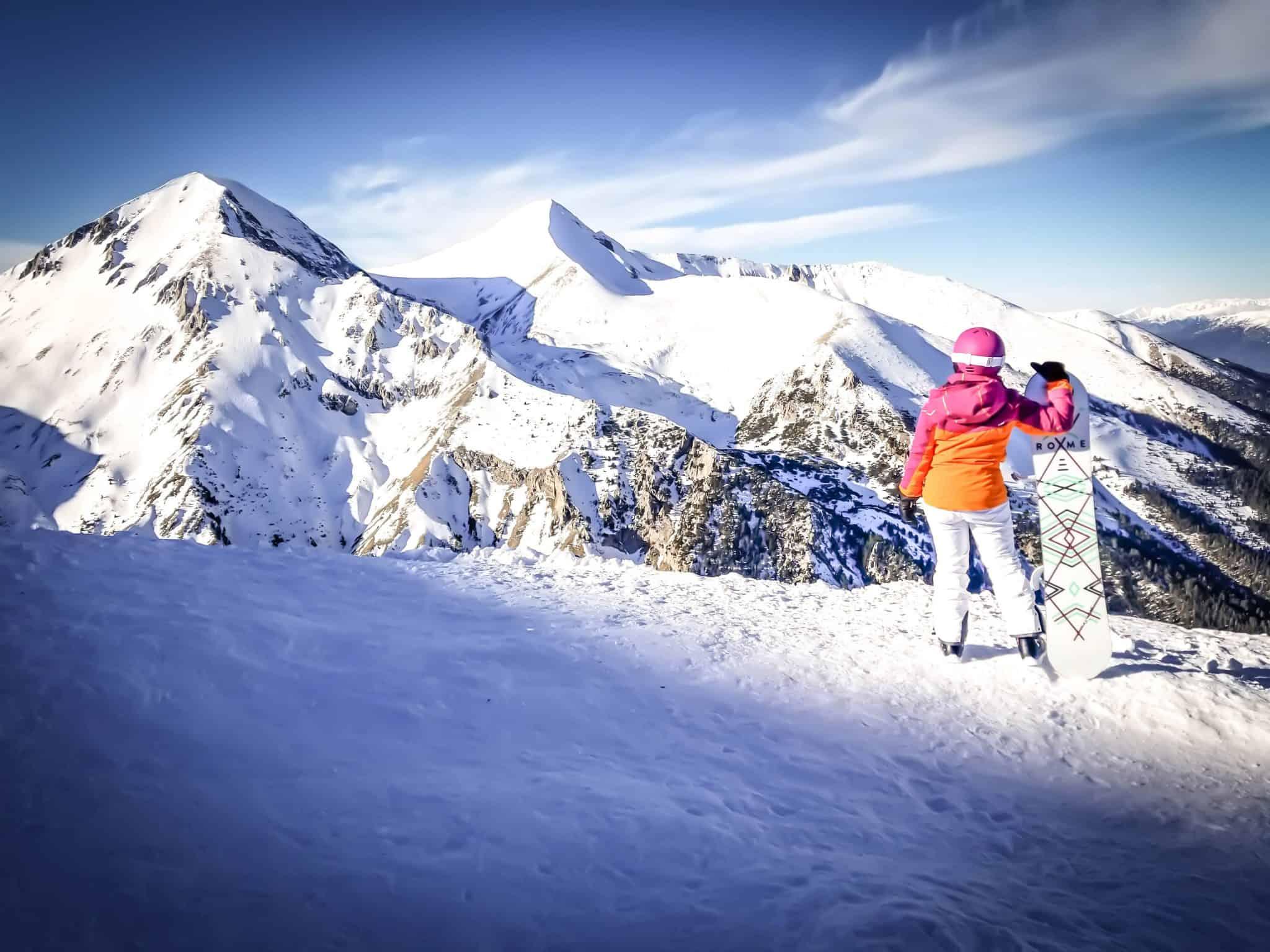 Snowboarding in Bansko