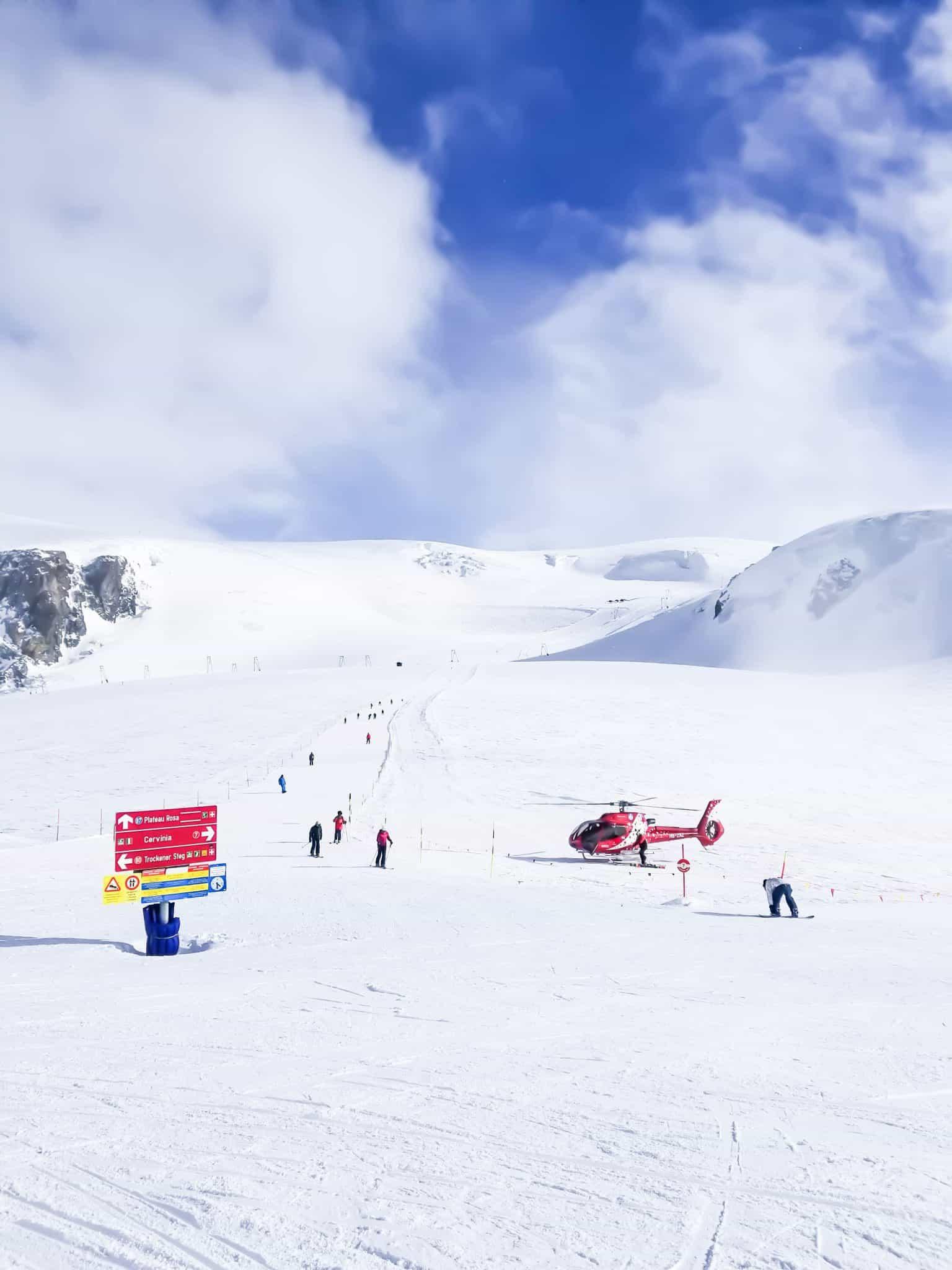 heliskiing in Zermatt