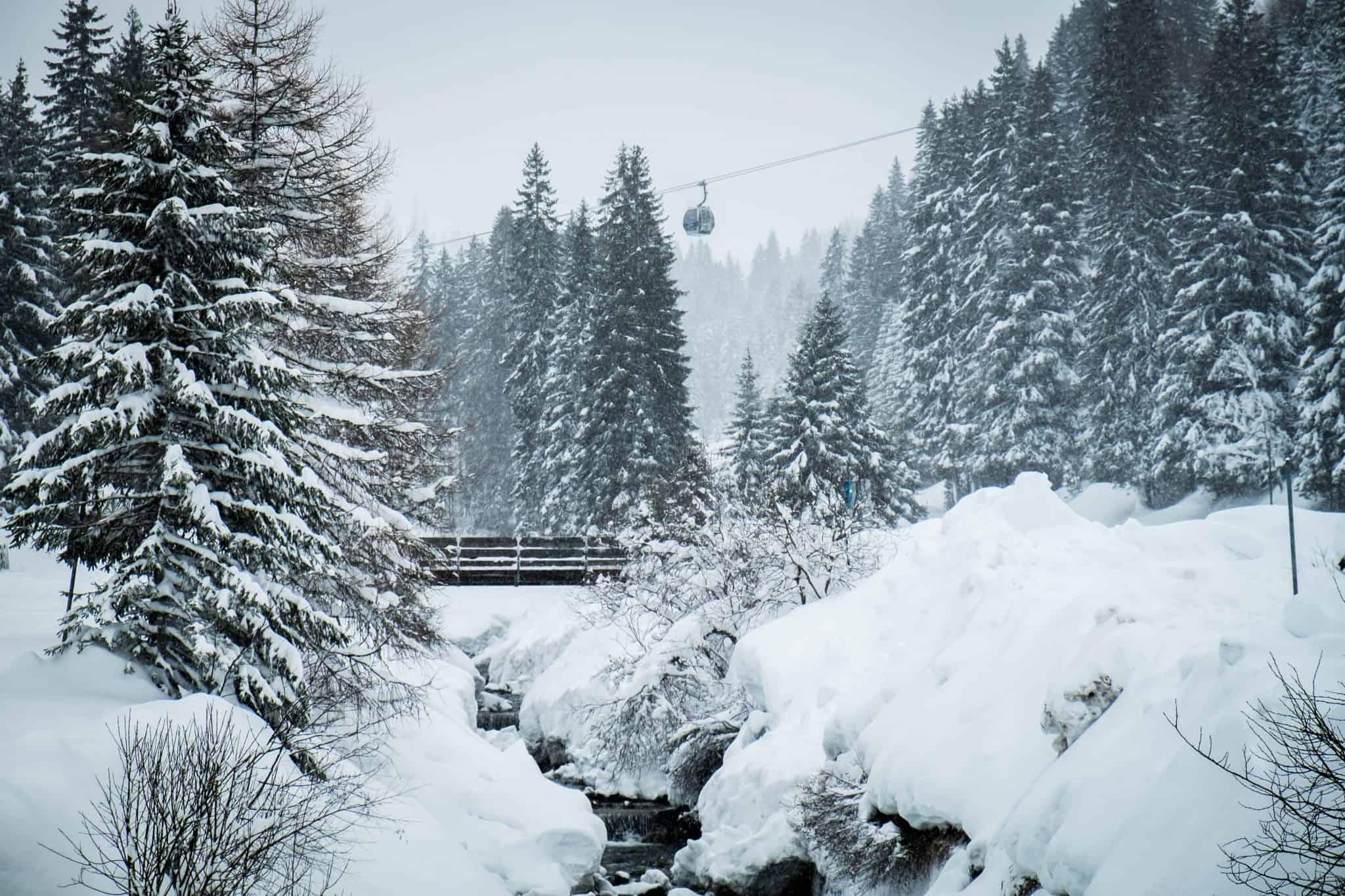 Gargellen, Austria fresh snow