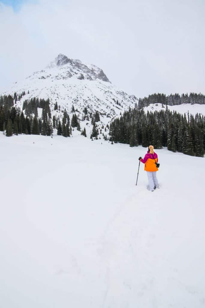 Snoeshowing in Lech Am Arlberg Austria 2