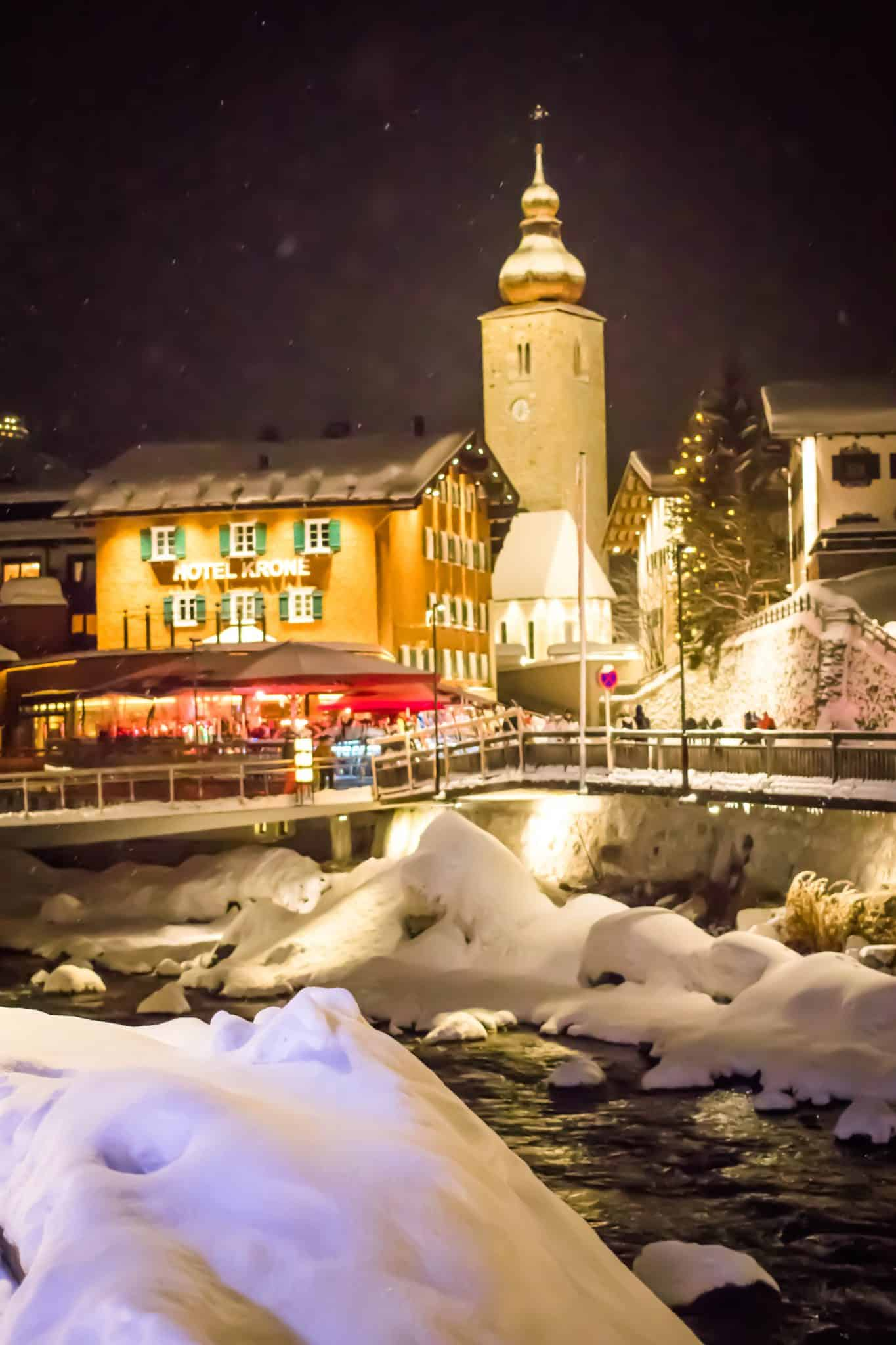Lech am Arlberg at Night