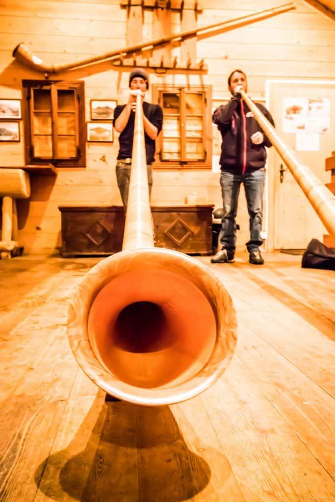 Alphorn lessons in Nendaz