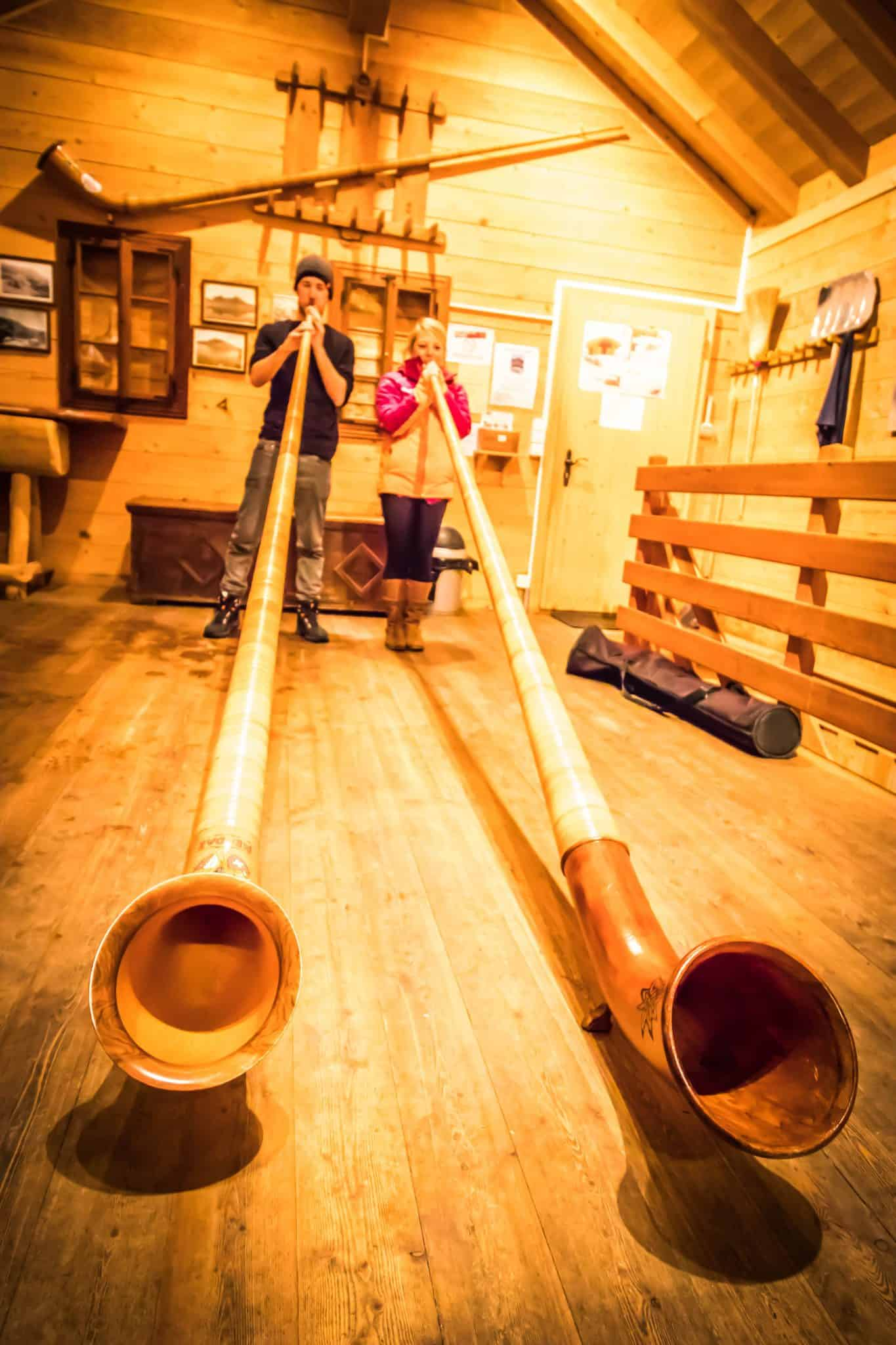 Alphorn lessons in Nendaz