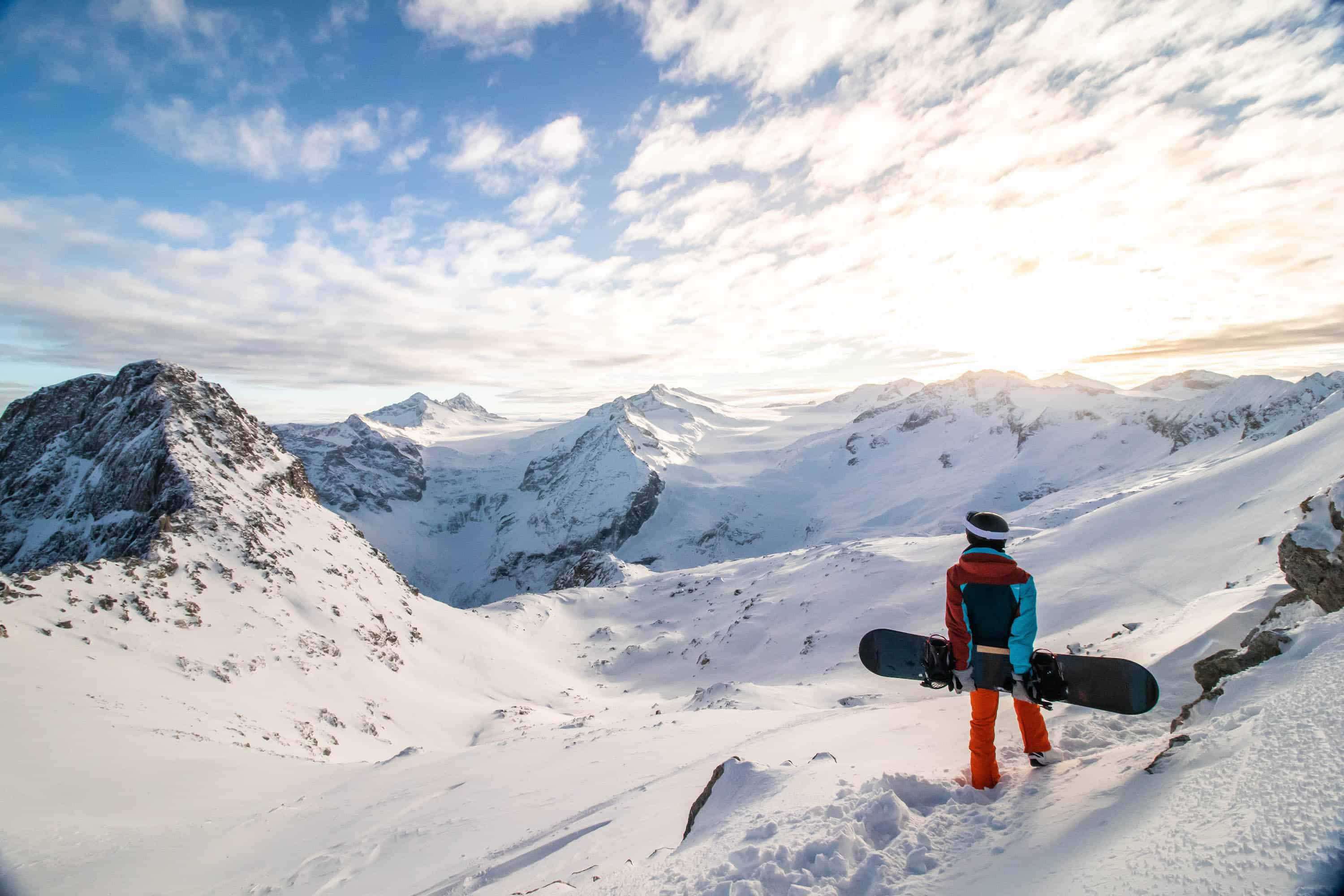 Winter skiing in Italy