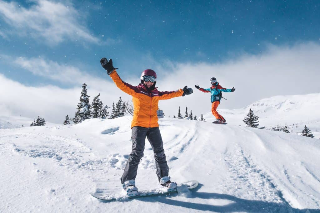 Ski Big 3 - Things to do in Banff Winter - Cameron Seagle and Natasha Alden Banff Sunshine