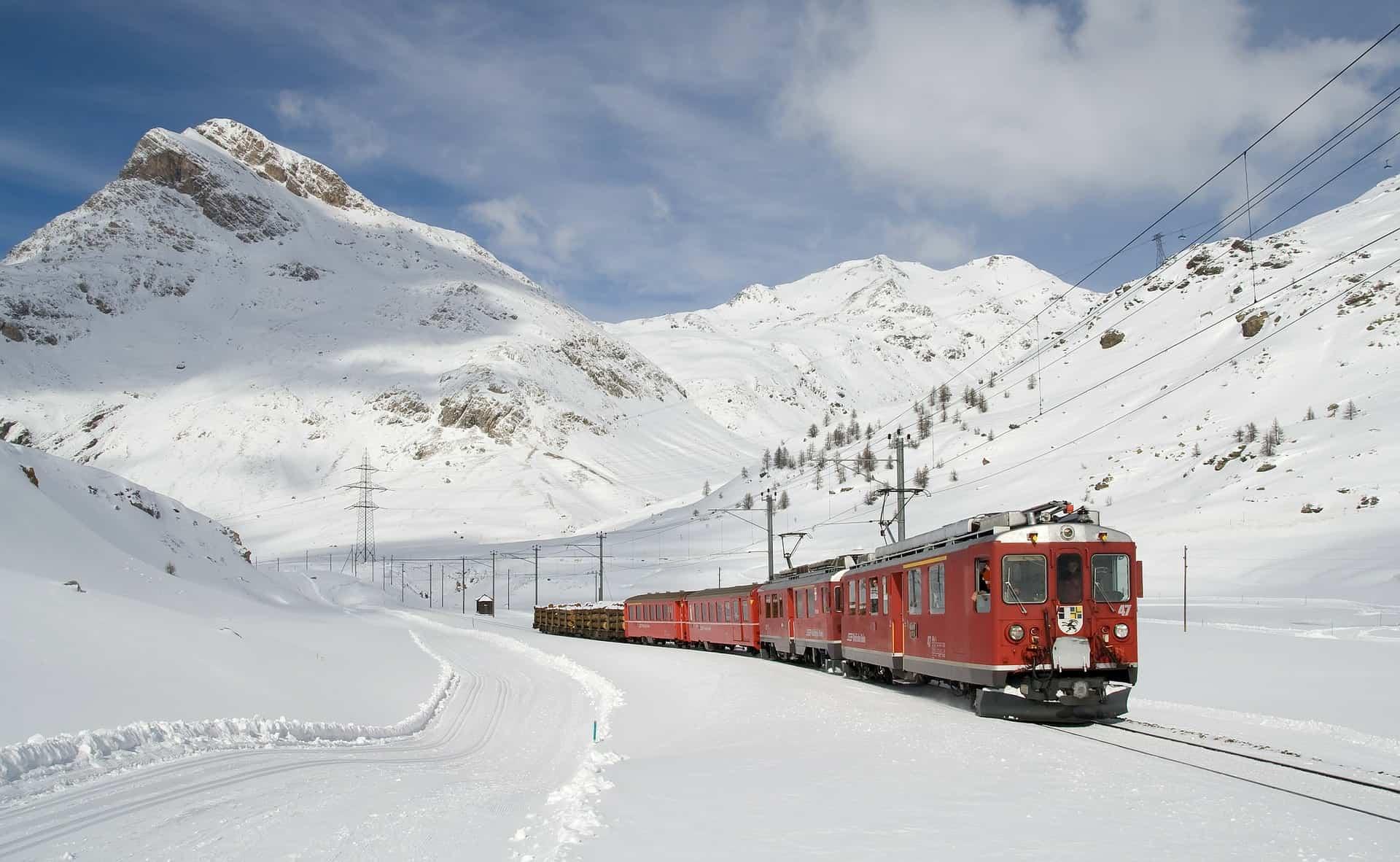 Switzerland Ski Train Travel