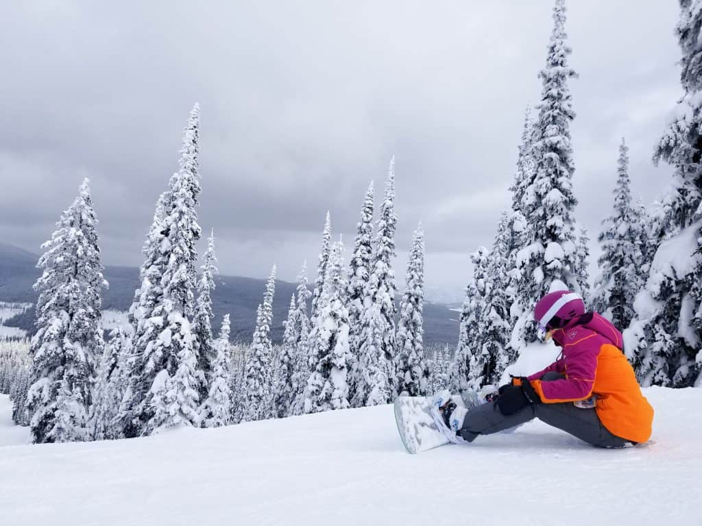 Ski Sun Peaks Mt Morrisey Natasha Alden Strapping Snowboard