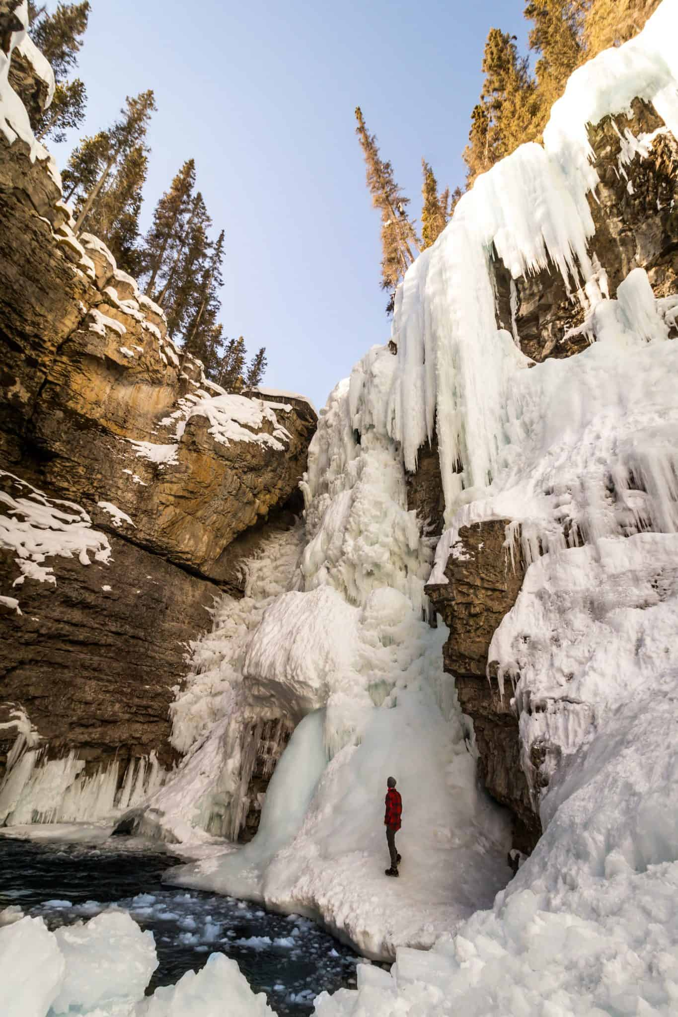 Things To Do in Banff Winter - Johnston Canyon Frozen Waterfall