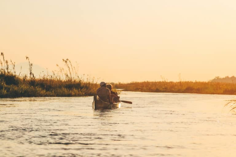 A canoe Safari in Africa