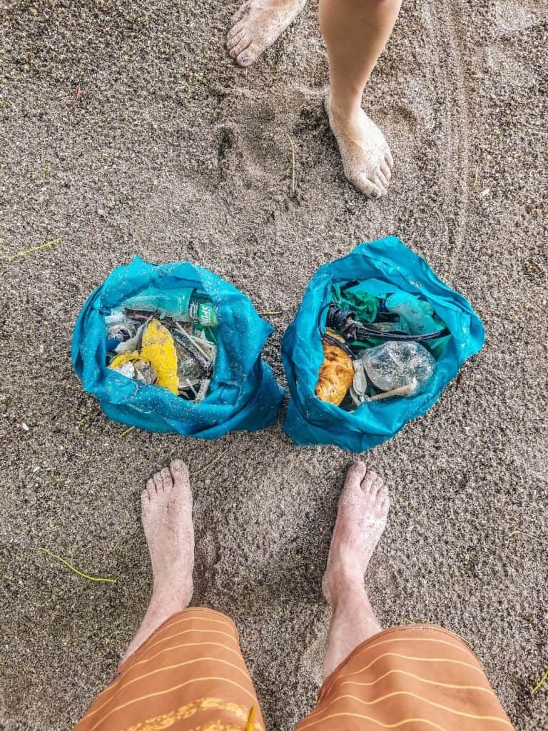 Sustainable Travel - Beach Plastic Clean