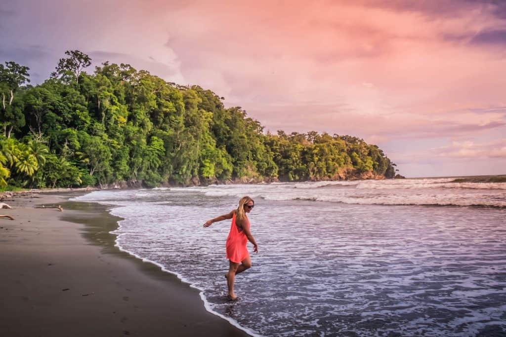 Travel in Costa Rica - Natasha Alden on Beach