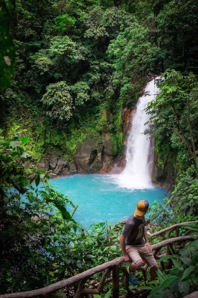 Travel in Costa Rica - Rio Celeste Waterfall