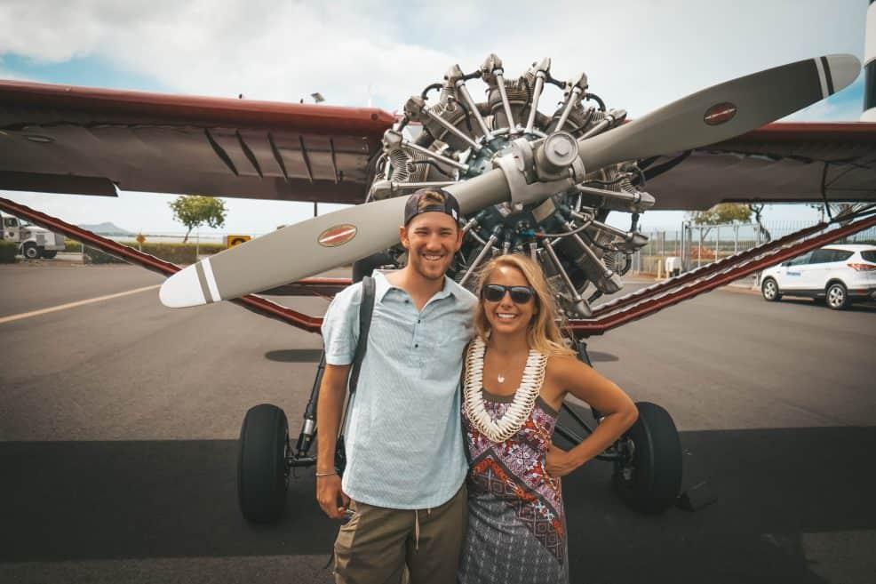 Airplane ride in Hawaii