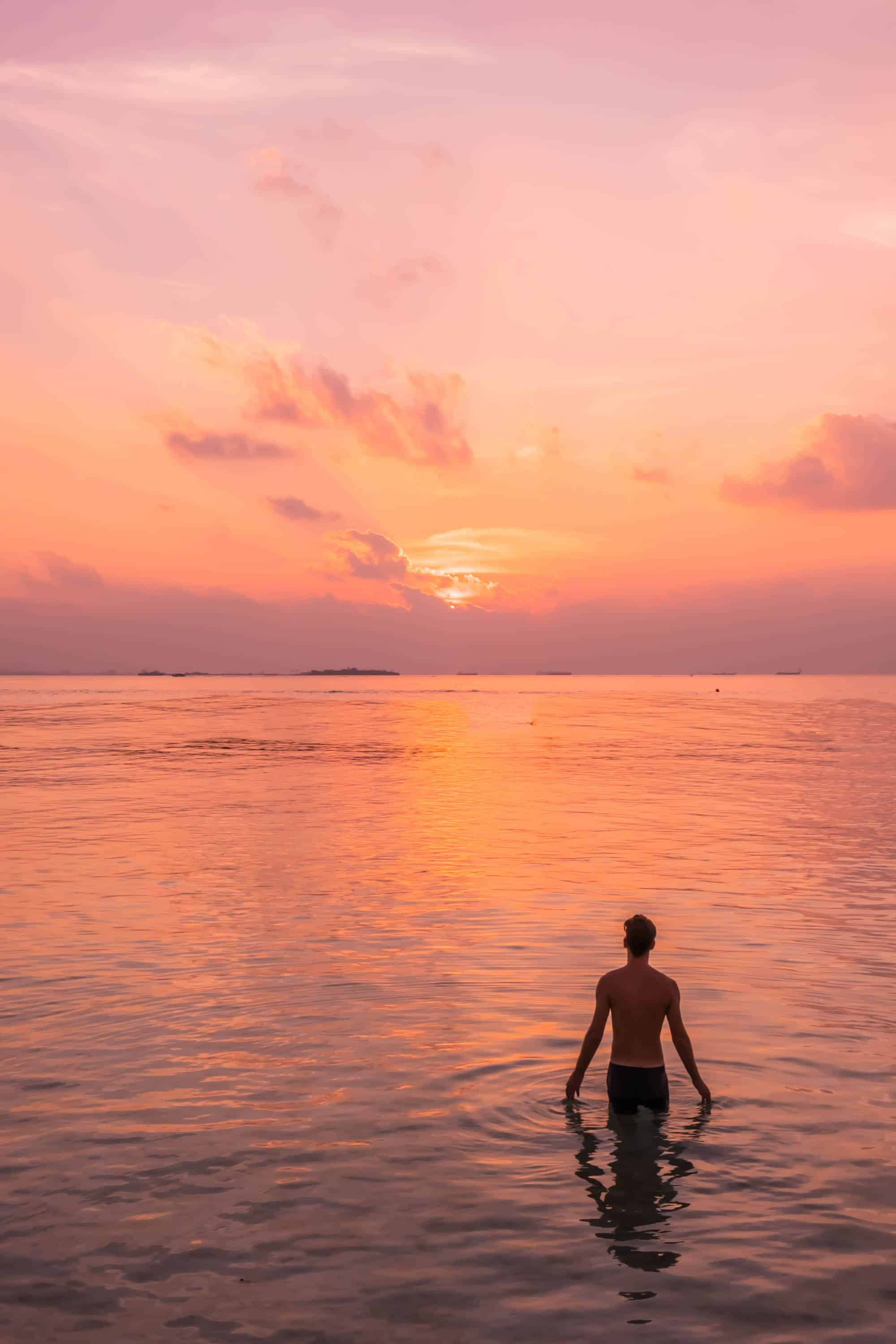 Sunsets in Maldives