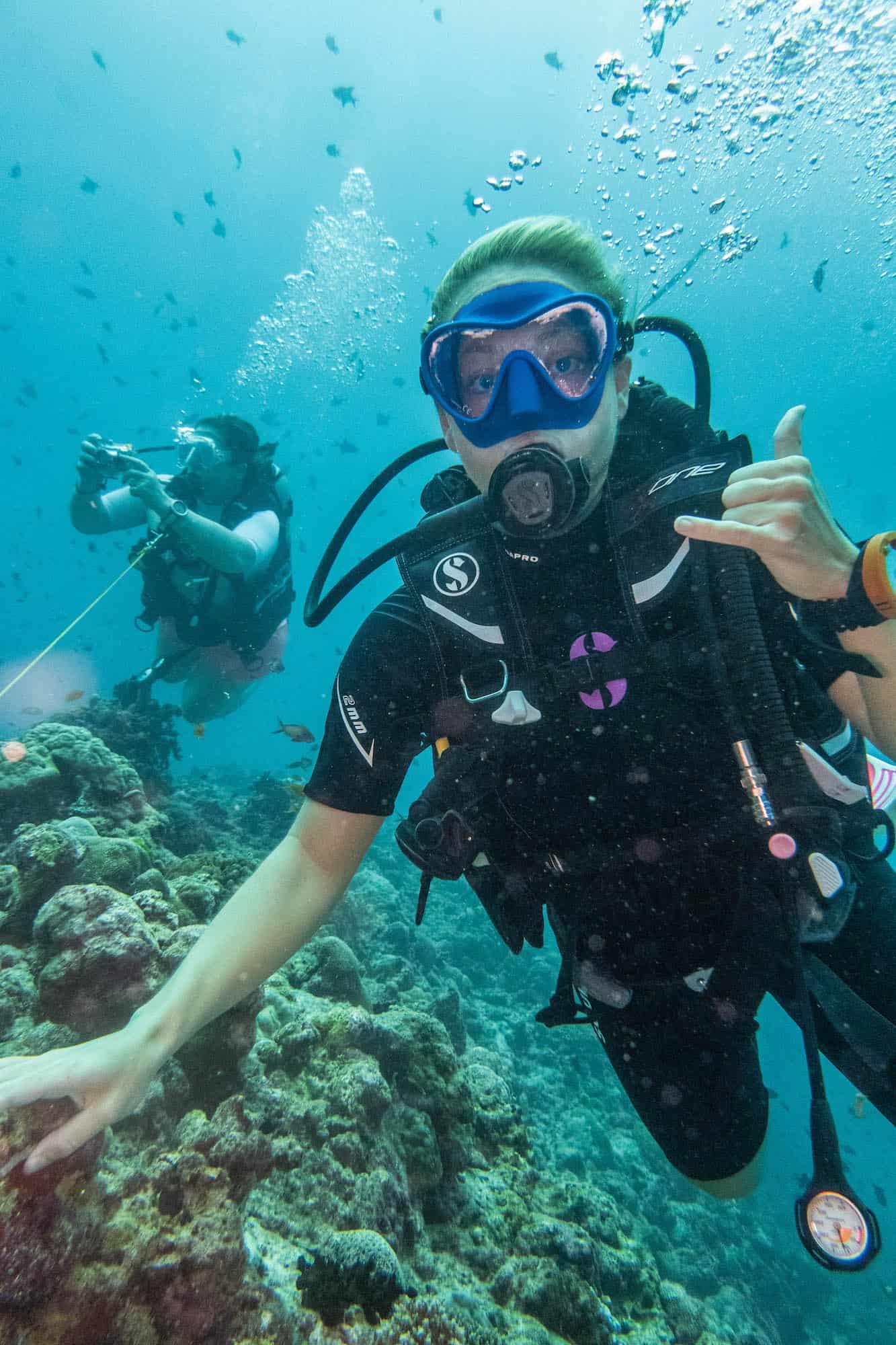 Tasha Diving Kuramathi