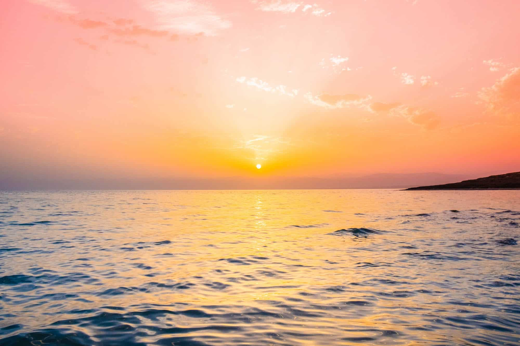 travel in jordan dead sea landscape sunset