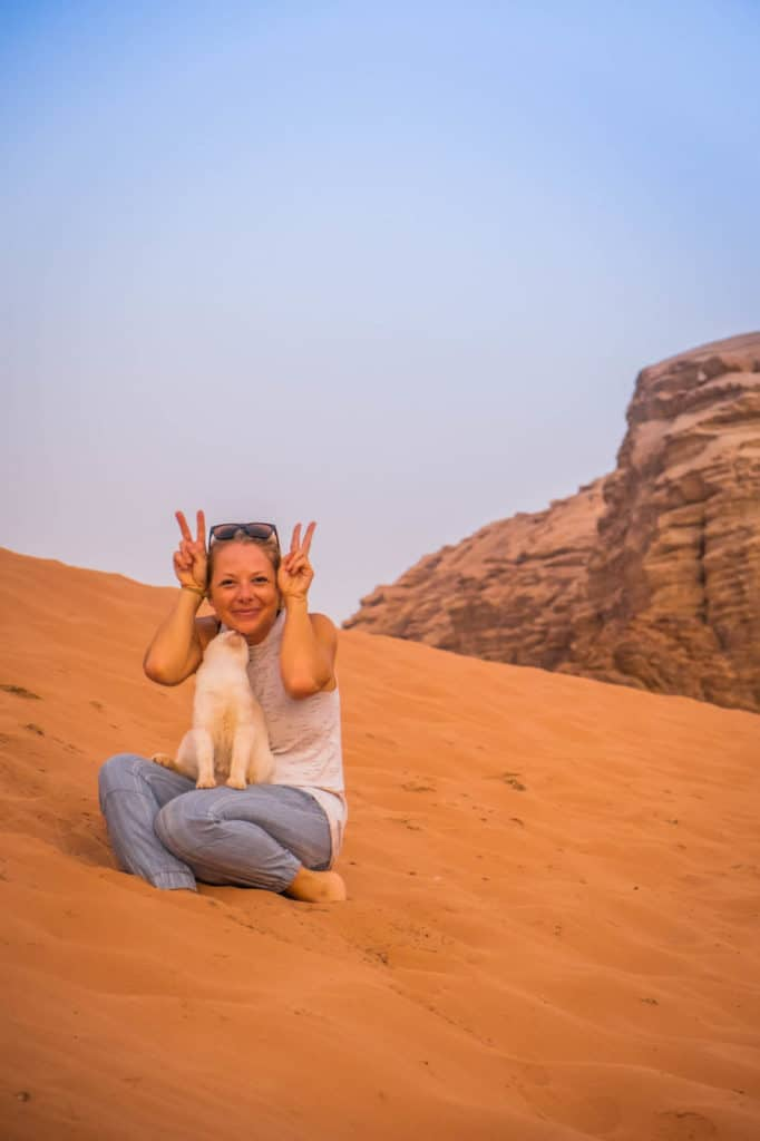travel in jordan kitty kat in wadi rum