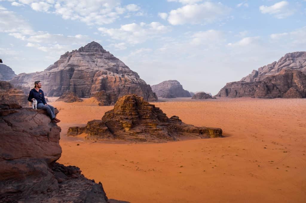 travel in jordan - wadi rum landscape