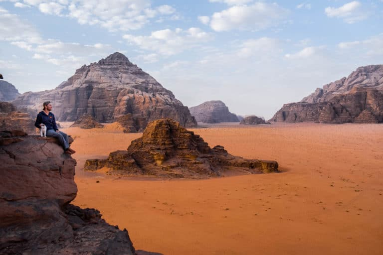 travel in jordan - wadi rum landscape