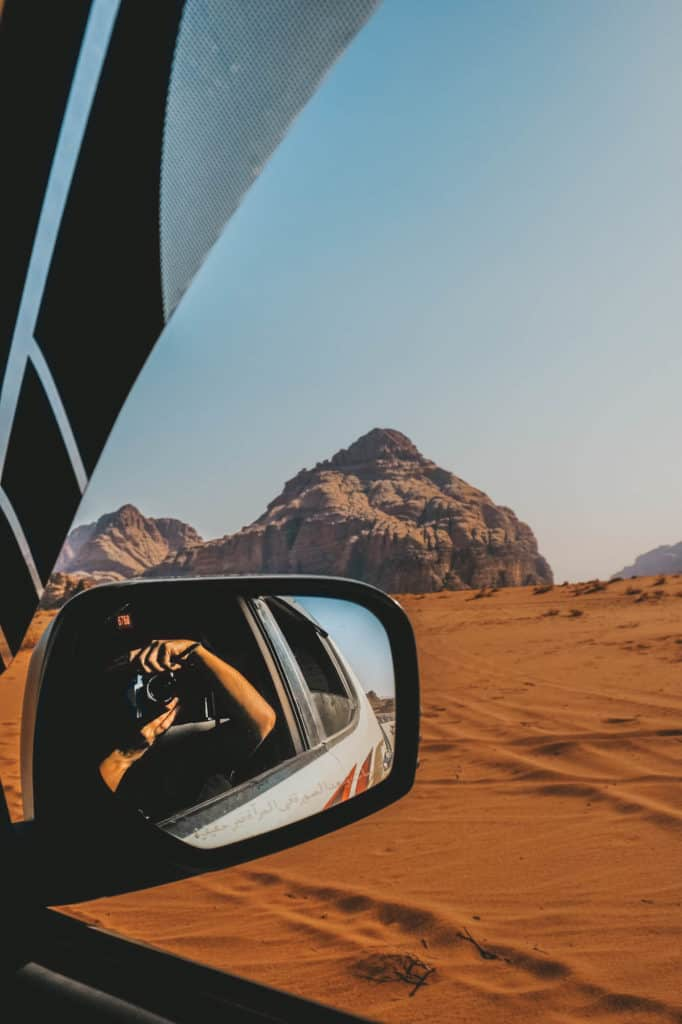 travel in jordan- wadi rum mirror