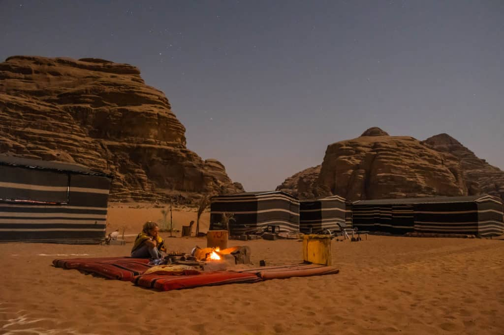 travel in jordan - wadi rum night