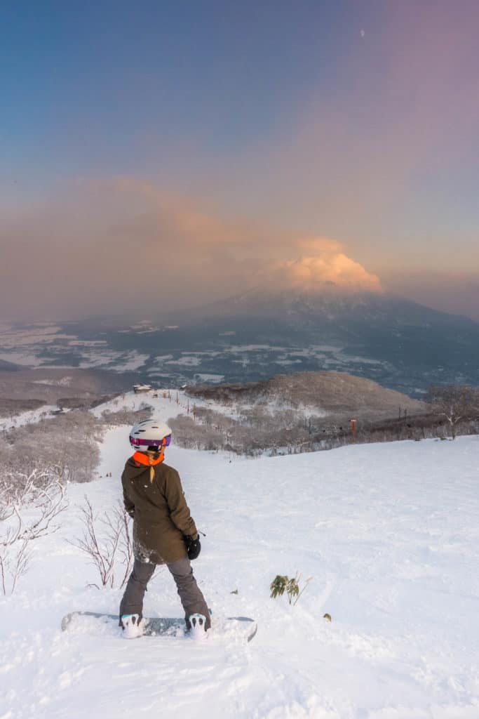 Boarding in Niseko