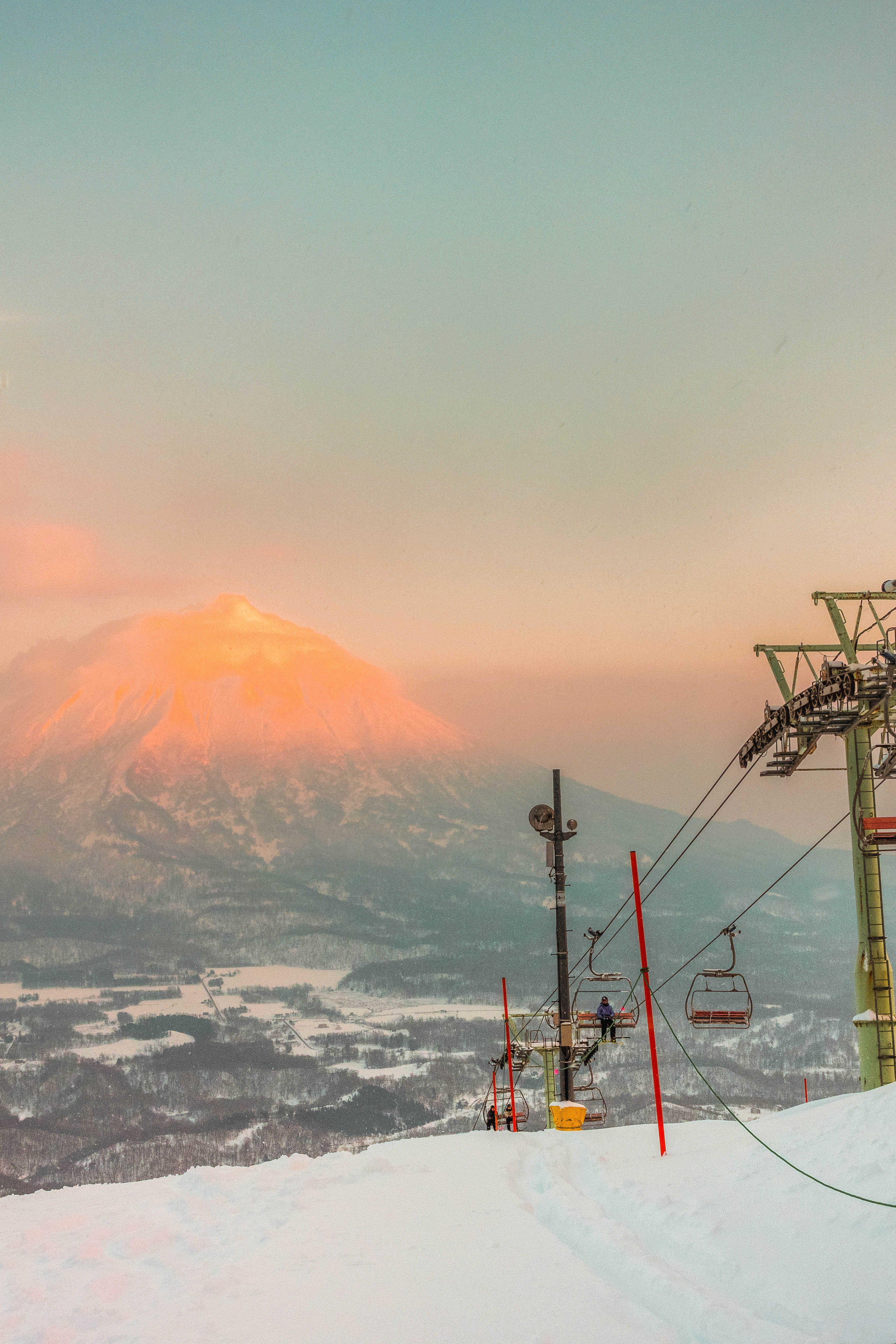 Chairlifts at Niseko